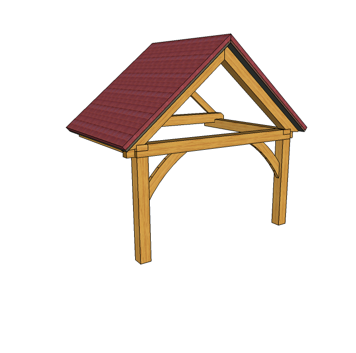 Build your own oak framed porch using our green oak porch kits. The ...