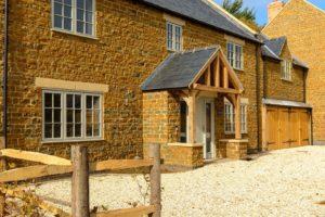 High Brick Plinth Porch Manor Farm Long