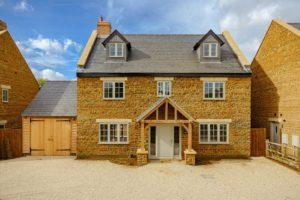 High Brick Plinth Porch Manor Farm Landscape