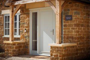 High Brick Plinth Porch Manor Farm Front Door