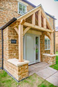 High Brick Plinth Porch Manor Farm Vertical