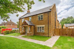 High Brick Plinth Porch Manor Farm Wide