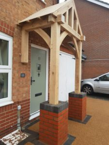 Floor and Wall Mounted Porch with Bricks