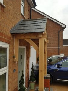 Floor and Wall Mounted Porch Shingle Roof