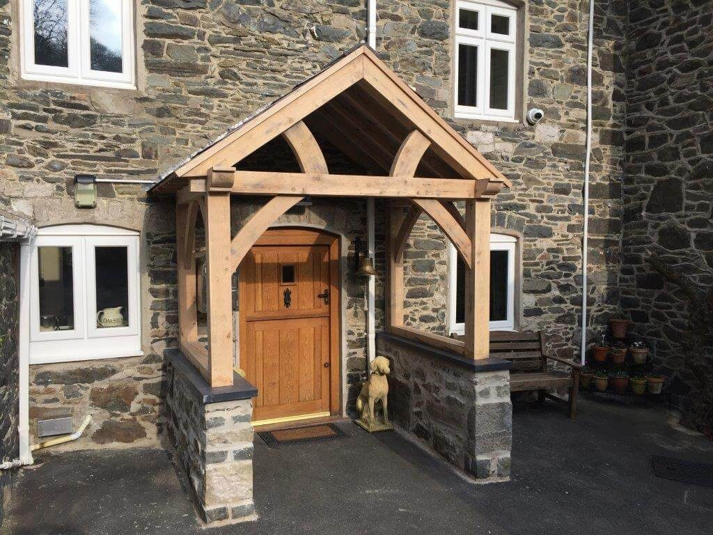 High Brick Plinth Porch Oak Truss