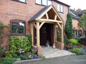 Low Brick Plinth Porch External