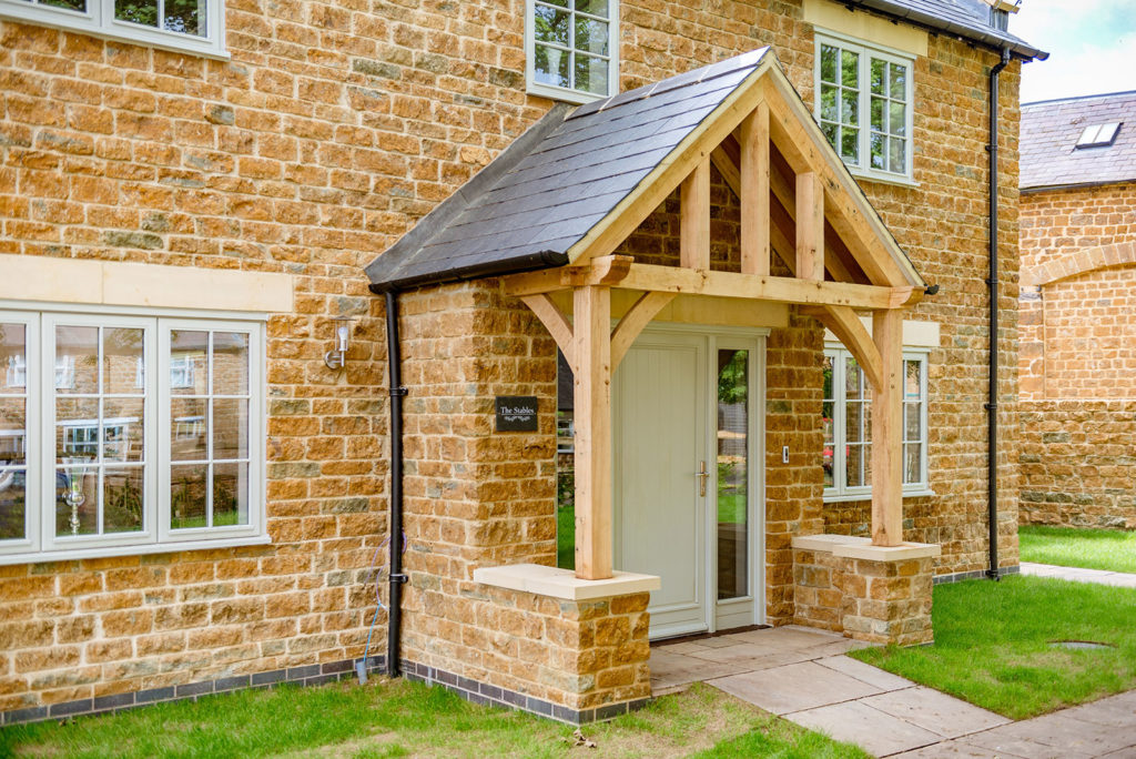 Porch at the Manor Farm show home