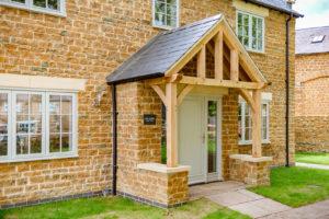 High Brick Plinth Porch Manor Farm Mid