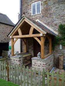 High Brick Plinth Porch Stone