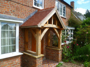 High Brick Plinth Porch Build