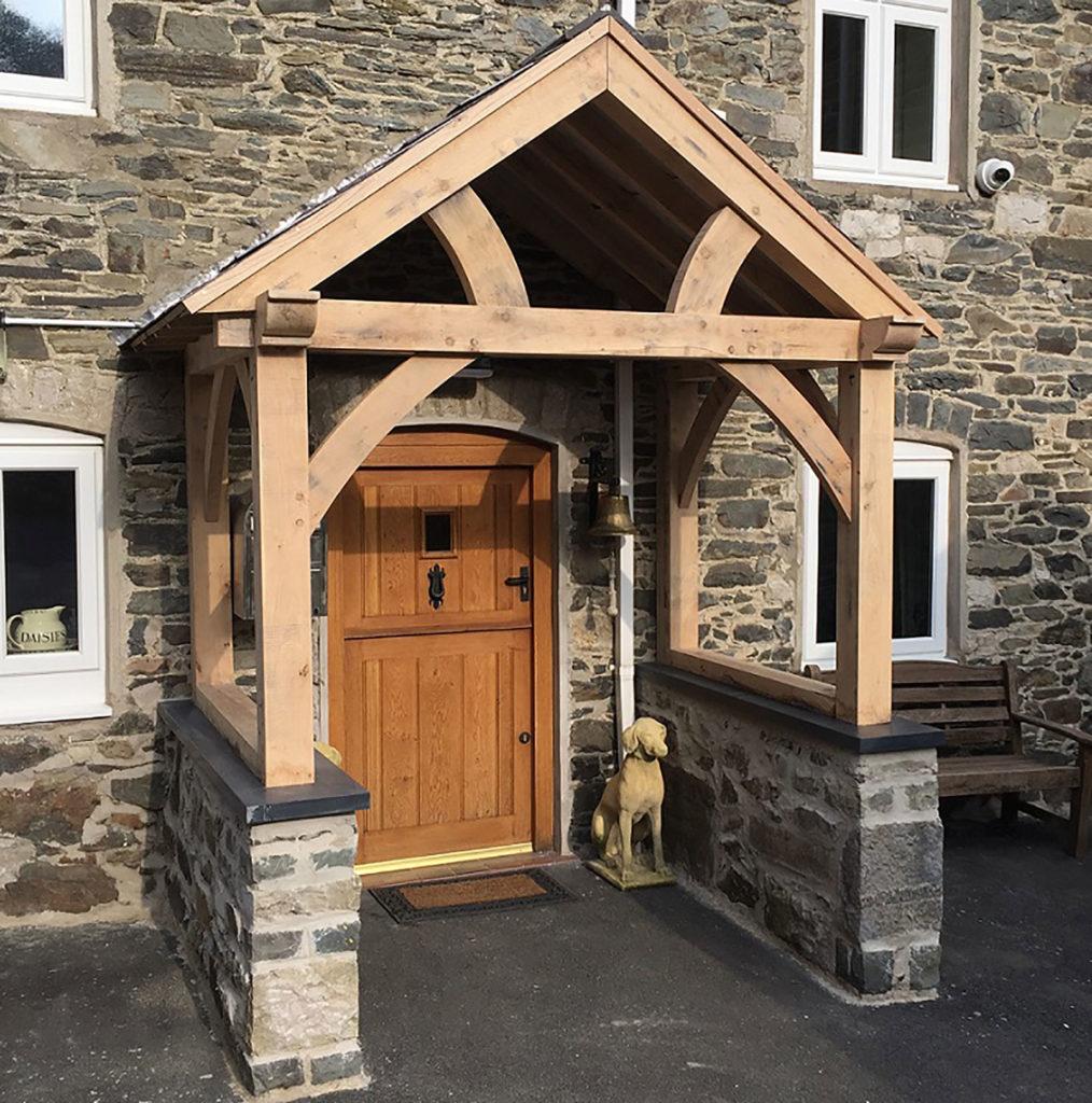 High Brick Plinth Porch Complete