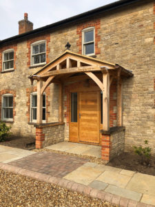 High Brick Plinth Porch Cottage